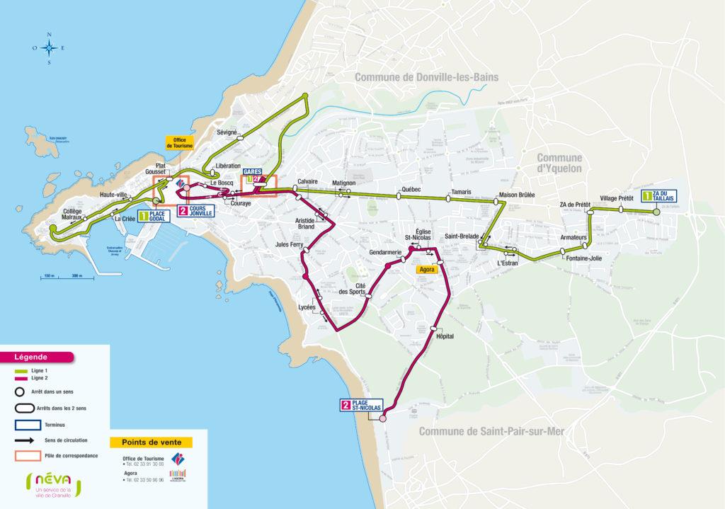 Plan des lignes NEVA GRANVILLE