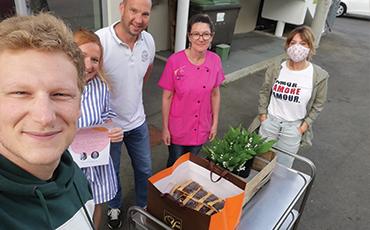 Les résidents des Herbiers ont reçu de belles surprises mercredi 22 avril 2020.