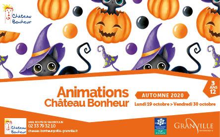 Le programme des animations des vacances d'automne à Château Bonheur dévoilé
