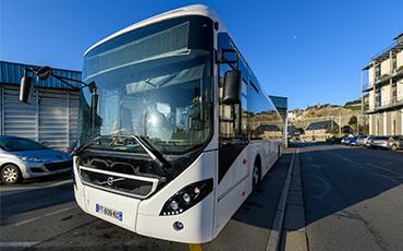 La ville de Granville a testé un bus hybride.©Benoit.Croisy