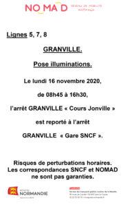Report de l'arrêt MANEO cours Jonville lundi 16 novembre