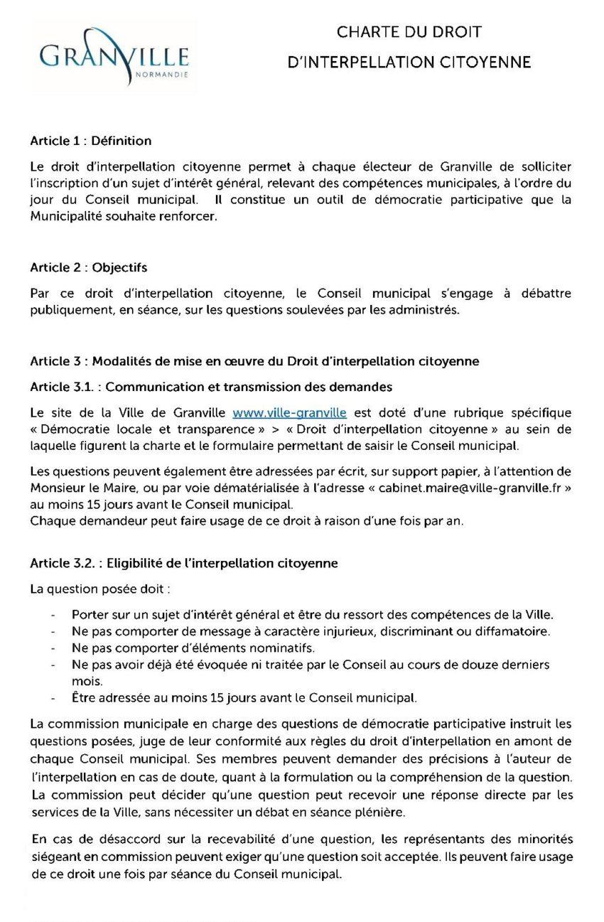 Le formulaire de droit d'interpellation citoyenne est en ligne !
