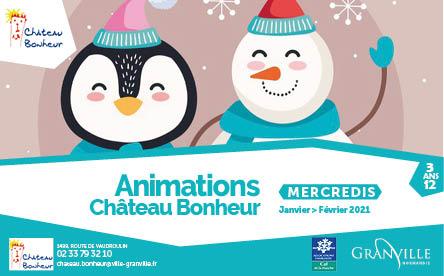 Animations de janvier et février 2021 à Château Bonheur
