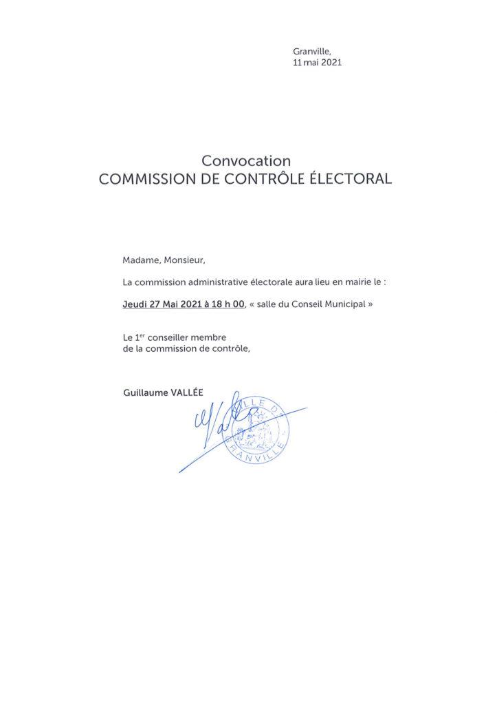Prochaine commission de contrôle électoral : la date est fixée